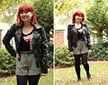 Houndsooth Shorts with Black Tights, a Graphic Tee, and Leather Jacket (23321643639).jpg
