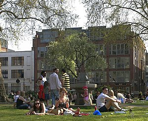 Hoxton Square - Hoxton Square garden in the summer