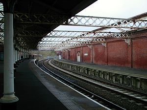 Hartlepool railway station - The station platforms before refurbishment