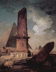 Girls Dancing Around An Obelisk
