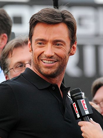 Hugh Jackman at the X-Men Origins: Wolverine p...