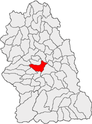 Location in Hunedoara County
