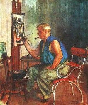 Vilmos Aba-Novák - Self-portrait