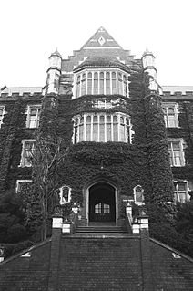 Hunter Building historic building and original building of the Victoria University of Wellington, New Zealand