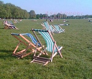 Deckchair - Deckchairs in Hyde Park, London