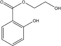 Struktur von Hydroxyethylsalicylat