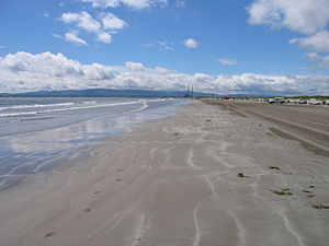 Bull Island - Dollymount Strand looking towards Dublin City