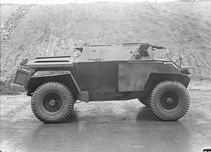 Humber Scout Car - Humber Scout Car, side view.