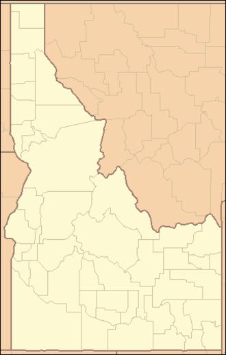 Jarbidge River - Image: Idaho Locator Map
