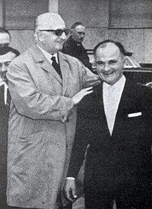Enzo Ferrari con Ilario Bandini, 1964