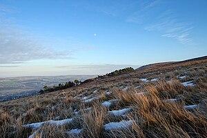 Ilkley Moor - Ilkley Moor on a clear evening as the daylight falls.