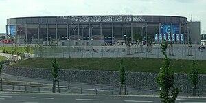 Augsburg Arena - Image: Impuls Arena Zugangswege