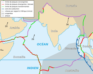 Siahan Range - A map depicting the Indian Plate.