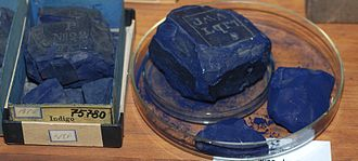 Indigo dye -  Indigo, historical dye collection of the Technical University of Dresden, Germany