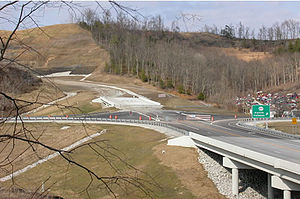 Kentucky Route 67 - KY 67 at the Kentucky Route 207 interchange.