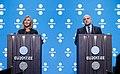 Informal meeting of defence ministers (FAC). Press conference Federica Mogherini and Jüri Luik (36270558343).jpg