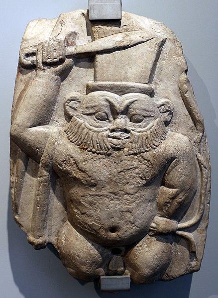 File:Inizio epoca tolemaica, cippo di bes, III secolo ac.jpg