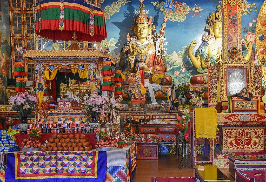 Inside the old Ghoom Monastery
