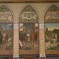 Interieur, eerste verdieping, achterzijde rechts (Statenzaal), muurschildering, 1478 David van Bourgondie geeft te Vollenhoven aan Overijssel zijn tweeden landbrief - Zwolle - 20393815 - RCE.jpg