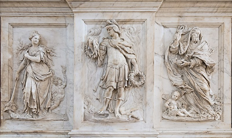 File:Interior of Santi Giovanni e Paolo (Venice) - Monument of the Valier Bas-relief left.jpg