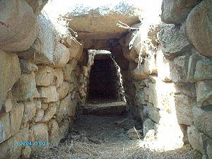Gonnosfanadiga - Inside of the tomb of the giants of San Cosimo.