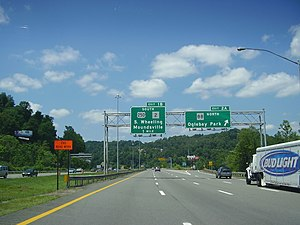 Interstate 70 in West Virginia - Image: Interstate 70 near Wheeling West Virginia