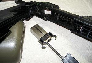 Intratec TEC-22 - The TEC-22's internal parts.