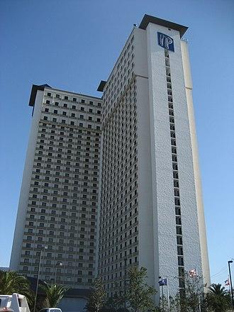 IP Casino Resort Spa - The IP hotel tower, seen in 2007
