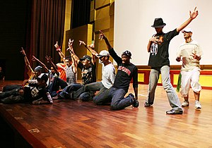 Iraqi Hip Hop dancers and Michael Parks Master...
