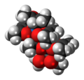 Iridium acetylacetonate dimer spacefill.png