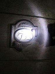 Ironworks sign at Brompton Road (6120714951).jpg