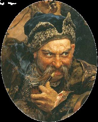 Ivan Sirko - Otaman Ivan Sirko, an imaginary representation by Ilya Repin