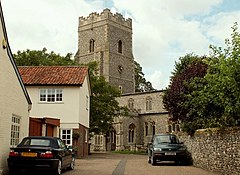 Image of the church of St Mary in the centre of Ixworth, Suffolk