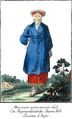 Izhorians - Izhorian woman wearing a national costume
