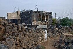 Kleines Gebiet mit noch erhaltener, für den Hauran typischer Bauweise