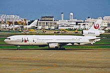 JA8580 MD-11 JAL Japan Airlines NRT 09JUL01 (6880867346).jpg