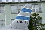 JASDF F-86D(14-8217) vertical stabilizer left front view at Komatsu Air Base September 17, 2018.jpg