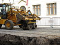 JCB 3CX backhoe loader, Myslíkova Street, Prague 3.jpg