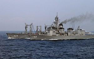 JS Harusame and Tokiwa at SDF Fleet Review 2006 a.jpg