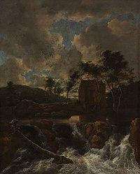 Jacob Isaacksz. van Ruisdael - Landschap met waterval - 2521 (OK) - Museum Boijmans Van Beuningen.jpg
