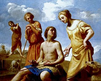Polygamy - Jacob Peeling the Rods by Guido Cagnacci, Royal Collection Trust, circa 1665