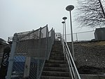 Jamaica LIRR Station; Staircase to Jamaica Yard.jpg