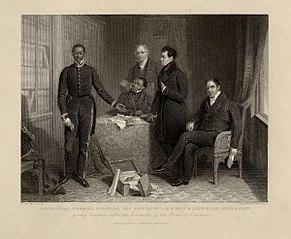 Portrait of Jan or Dyani Tzatzoe (Tshatshu), Andries Stoffles, James Read Sr, James Read Jr, John Philip, c.1836