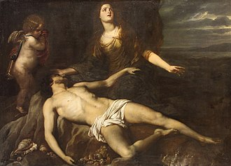 Hero and Leander (poem) - Hero laments the dead Leander by Jan van den Hoecke