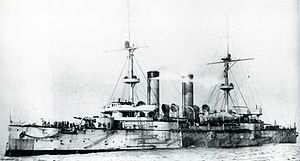 Japanese cruiser Asama on completion.jpg