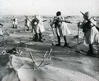 Twenty-Seventh Army (Japan) - Japanese ski troops in the Chishima Islands