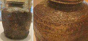 Shigaraki ware - Shigaraki glazed stoneware, Momoyama period (1573-1615)