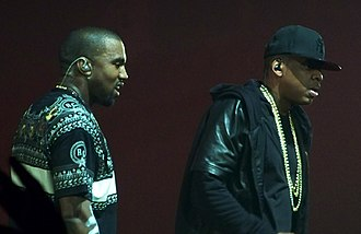 Kanye West - West received early acclaim for his production work on Jay-Z's The Blueprint; the two are pictured here in 2011.