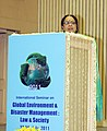 "Jayanthi Natarajan addressing at the conclusion of the International Seminar on ""Global Environment and Disaster Management Law and Society"", in New Delhi on July 24, 2011.jpg"