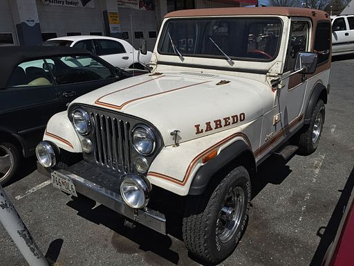 Jeep CJ-7 Laredo original white MD-1